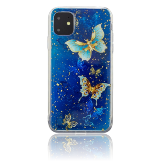 Blue Butterfly TPU Cover til iPhone 11