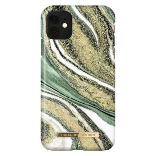iDeal Of Sweden iPhone 11 Fashion Cover, Cosmic Green Swirl