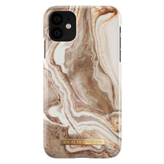 iDeal Of Sweden iPhone 11 Fashion Cover, Golden Sand Marble