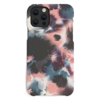 A Good Company iPhone 12 Pro Max Miljøvenligt Cover, Blue Pink Black Abstract