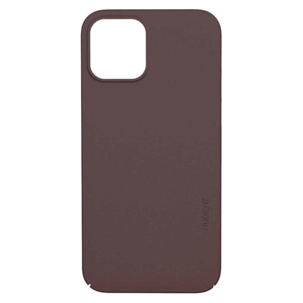 Nudient Thin Precise V3 iPhone 12/12 Pro Cover, Sangria Red