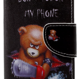 Angry Bear Flip Cover til iPhone X / XS